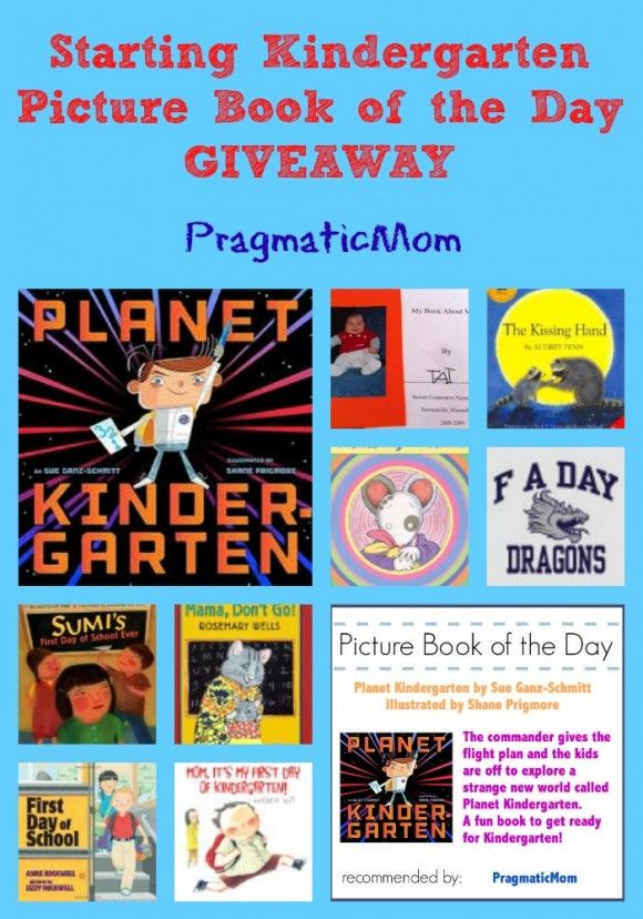 Starting Kindergarten Picture Book of the Day GIVEAWAY :: PragmaticMom