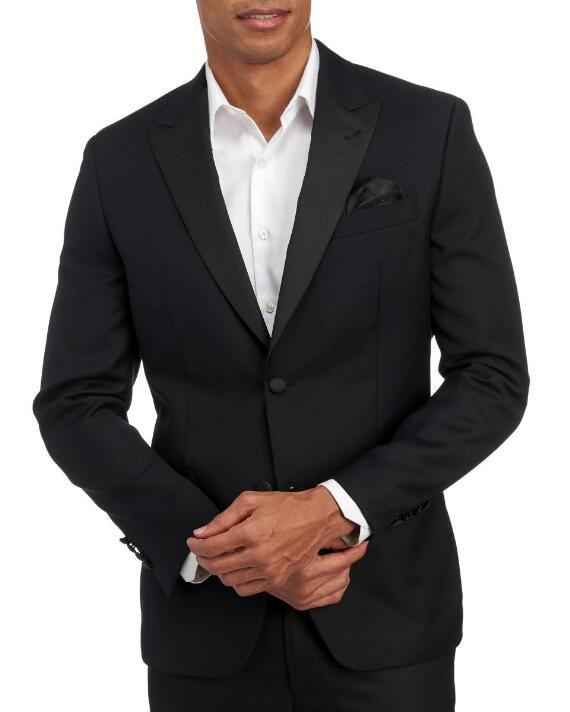 Tallia Modern Fit Two Button Tuxedo Jacket | 36S |  polyester wool