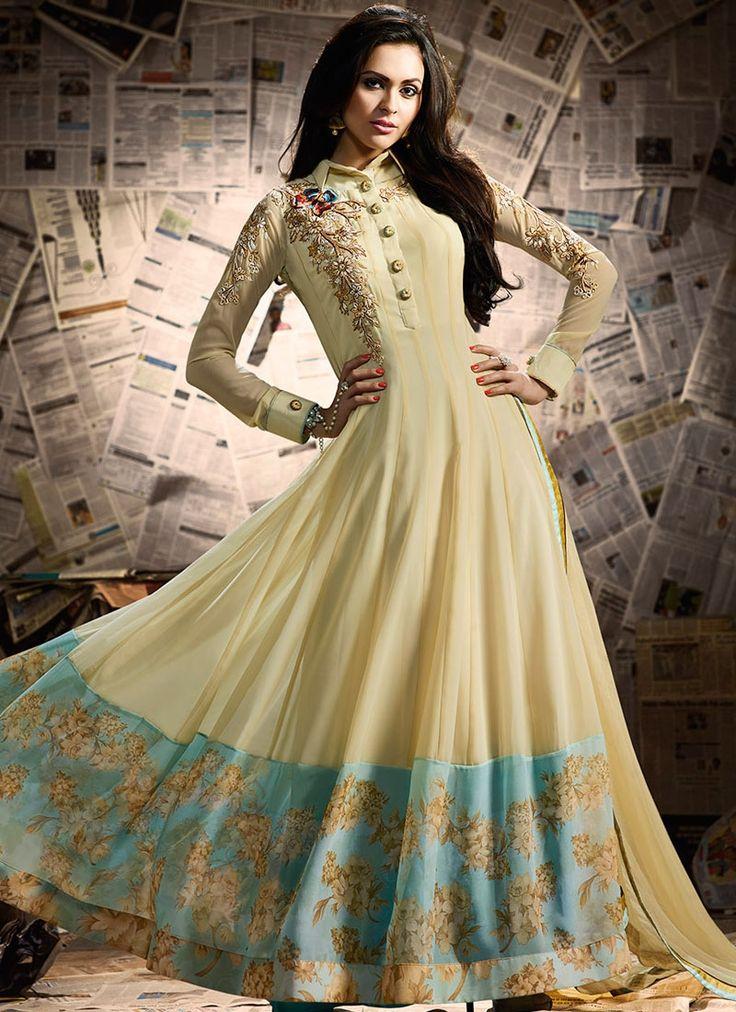 Buy Prime Yellow Resham Work Floor Length Anarkali Salwar Suit  #salwarkameez #anarkalisuits #womensuits #anarkalifashion #salwarkameezsale #glamor #glamorous