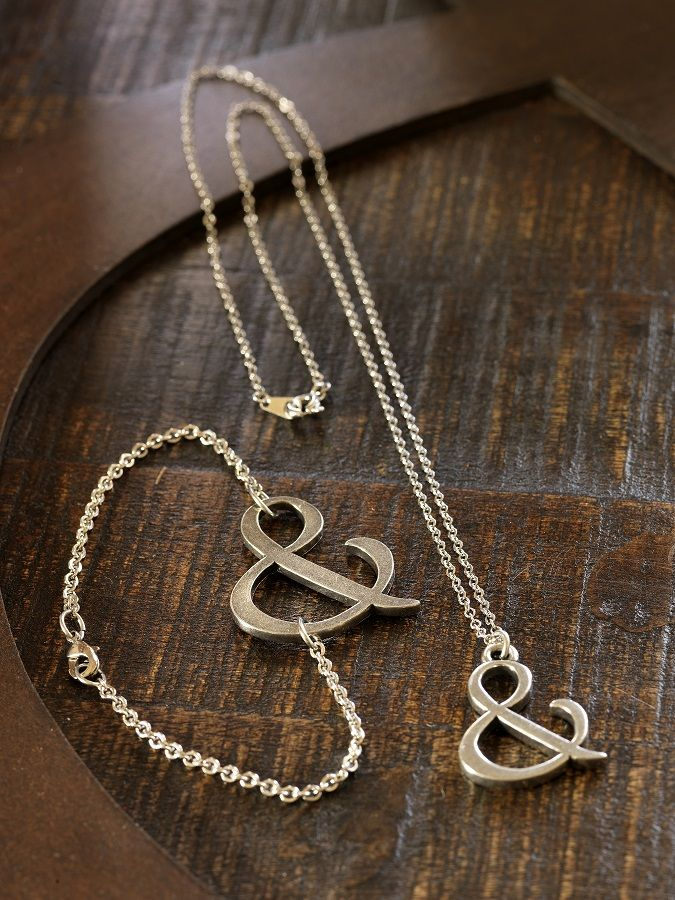 """Living in the & Necklace 