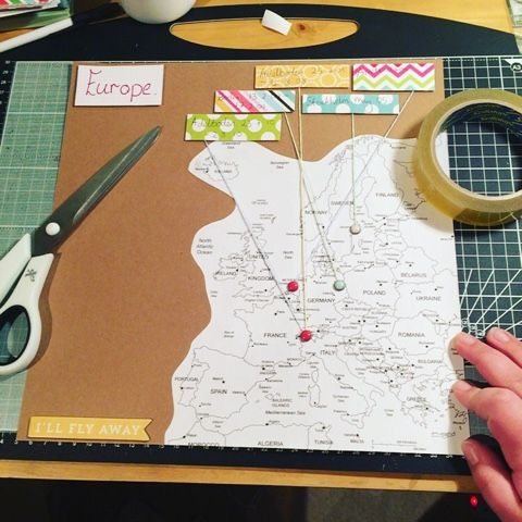 European Travels Scrapbook Layout Tutorial. – craftaholicsanonymousblog                                                                                                                                                                                 Más