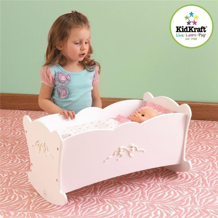 "Baby doll cradle #american girl dolls 18 "" furniture #white wood crib #rocking be,  View more on the LINK: 	http://www.zeppy.io/product/gb/2/232217010511/"