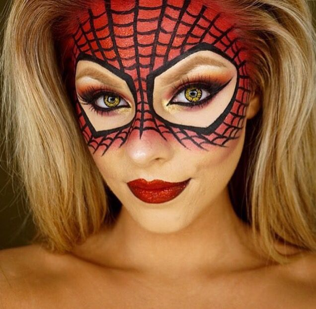 Spider-Man / woman makeup mask                                                                                                                                                                                 More
