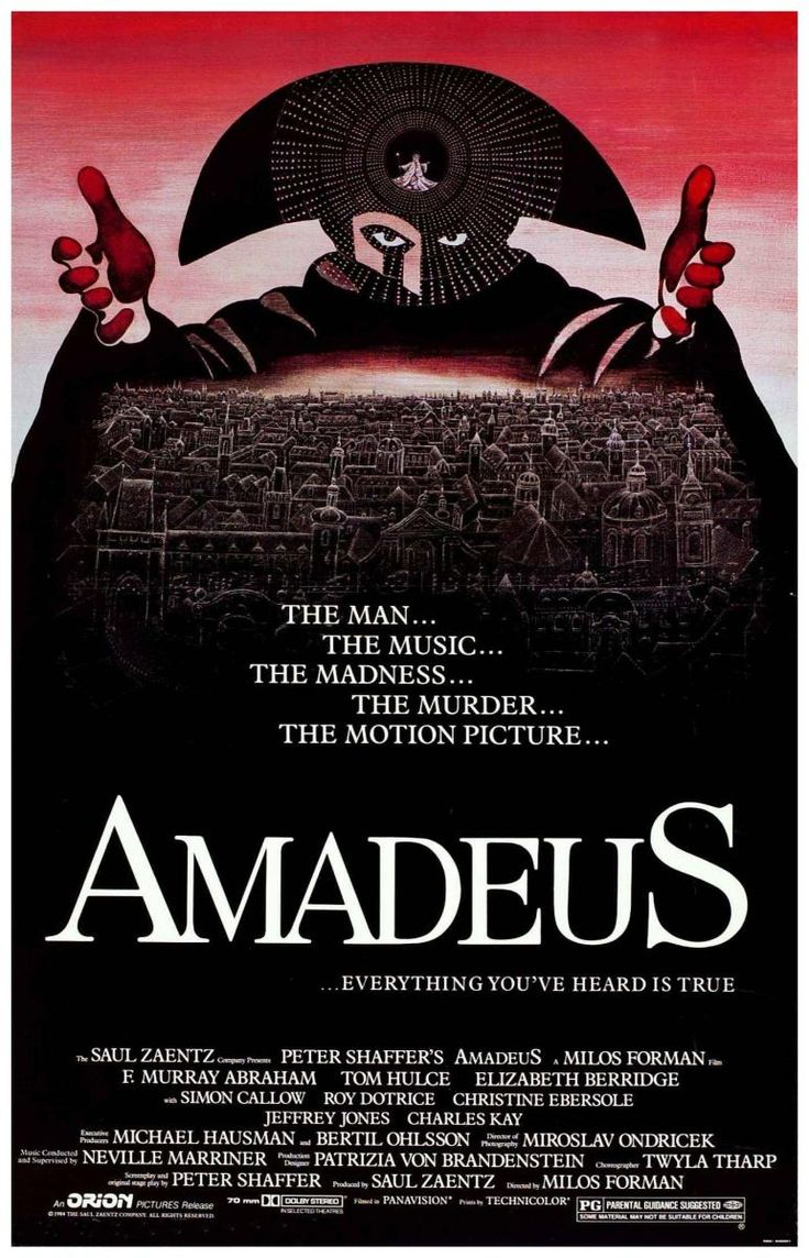 Amadeus is an american vintage movie film 1984 directed by milo forman loosely based on