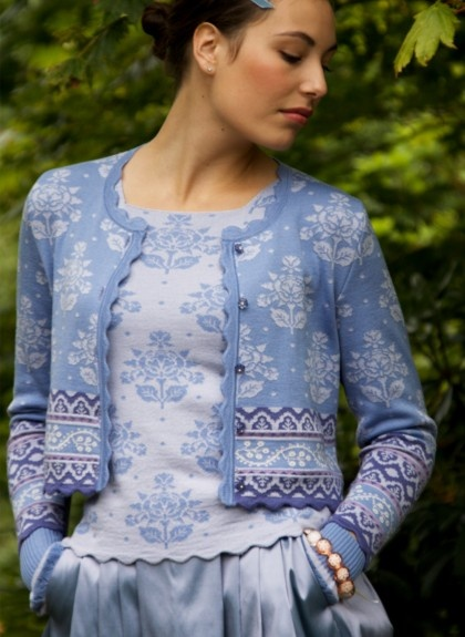 Top and cardigan - Oleana