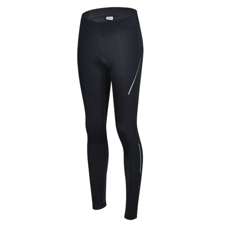 Black White Line Breathable Cycling Trousers