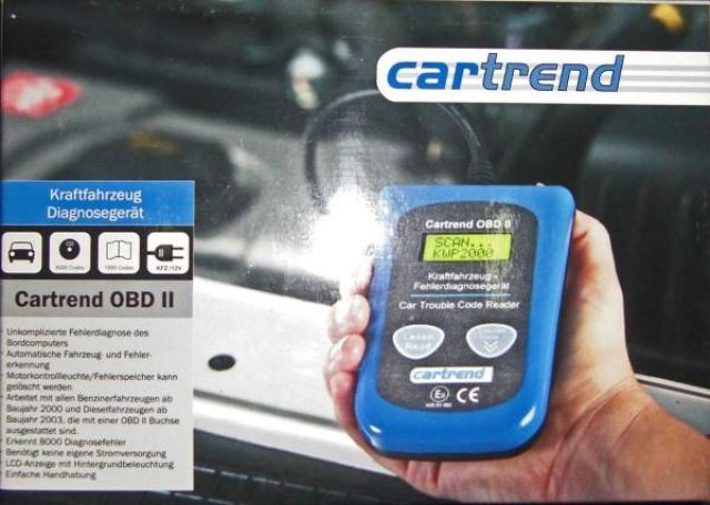 Today's top offer: Cartrend diagnostic code reader OBD II  - only 12.90 Euro per piece!