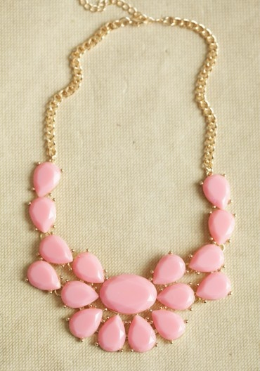bubblegum pink necklace