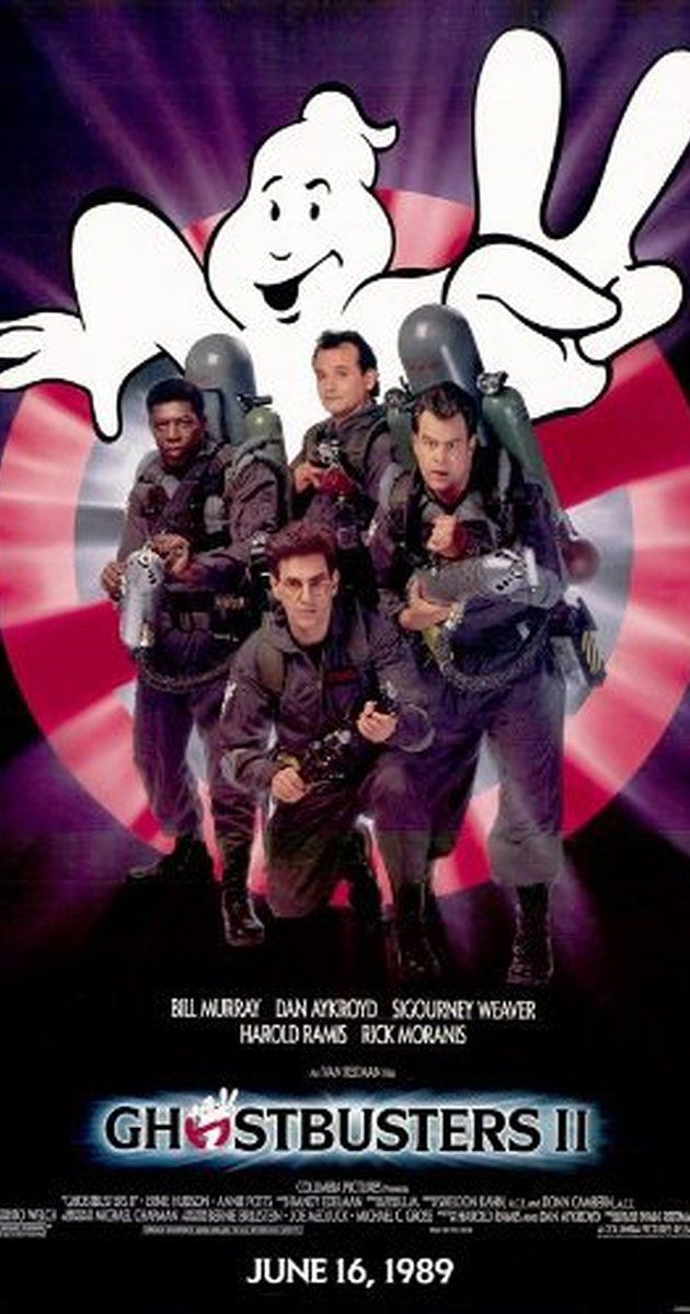 Directed by Ivan Reitman.  With Bill Murray, Dan Aykroyd, Sigourney Weaver, Harold Ramis. The discovery of a massive river of ectoplasm and a resurgence of spectral activity allows the staff of Ghostbusters to revive the business.