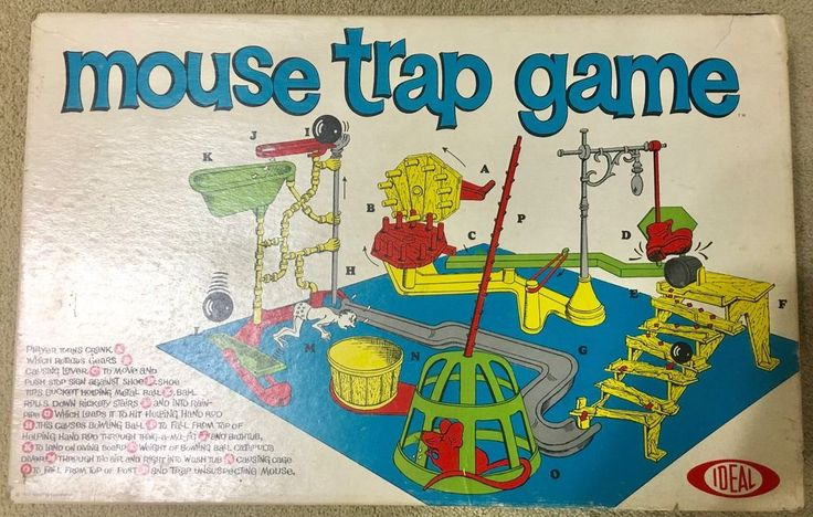 Vintage 1963 Original Mouse Trap Board Game Ideal COMPLETE Near Mint #IdealToys