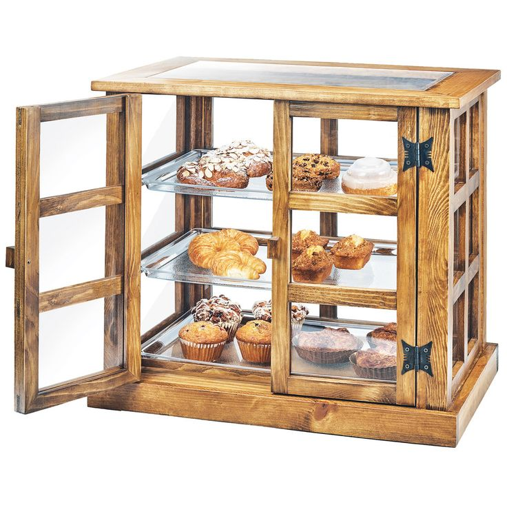 countertop zoom doors counter plastic rear display case p pastry loading countertops with trays bakery rw removable