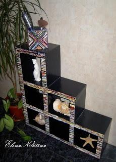Cardboard Furniture.    Mueble hecho con cajas de carton y revistas.... GENIAL!! Está en ruso, pero hay fotos de todo el paso a paso.