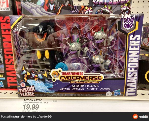 In Hand!! Transformers Cyberverse Battle For Cybertron Sharkticon Attack New!
