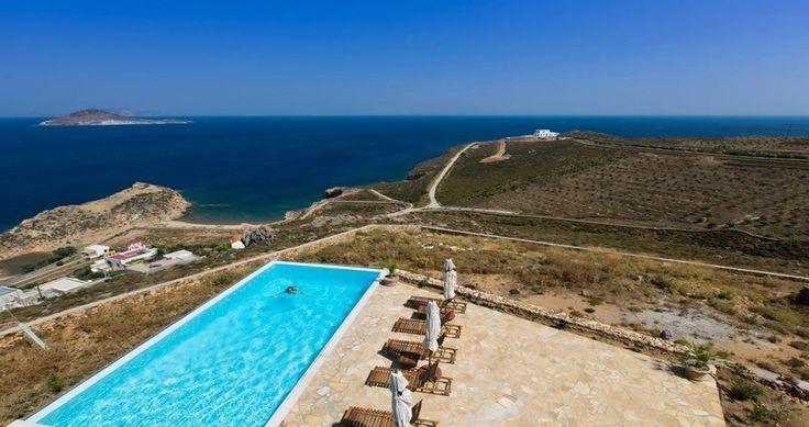 "Check ""Villa Sophias"" - Patmos, Greece ! You can rent it ! #luxury #villa #rent #holidays #greece #vacances #grece #alouer #aroomwithaview #sea #bedroom #decoration #swimmingpool #beautiful"