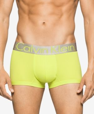 Calvin Klein Men's Underwear, Steel Micro Low Rise Trunk U2716 - Green XL