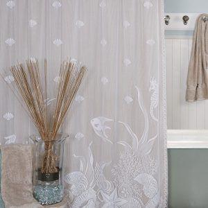 Heritage Lace Shower Curtain Seascape