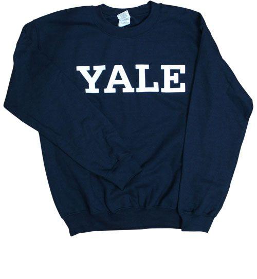 YaleBulldogBlue.com - Men's Sweatshirts - Basic YALE Crewneck Sweatshirt - Navy
