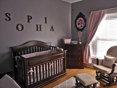 Restful Pink and Gray Nursery Decor for our baby girl, Sophia: Here are the details of our baby girl's restful pink and gray nursery decor.  I have included shopping resources for all the items that we used in decorating