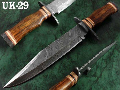 15-1-Handmade-Damascus-Steel-Bowie-Knife-1-OF-A-KIND-Rose-wood-Handle-UK-29