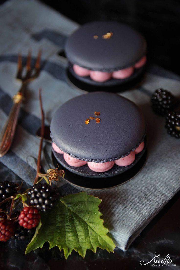 Brombeeren Macarons Törtchen -
