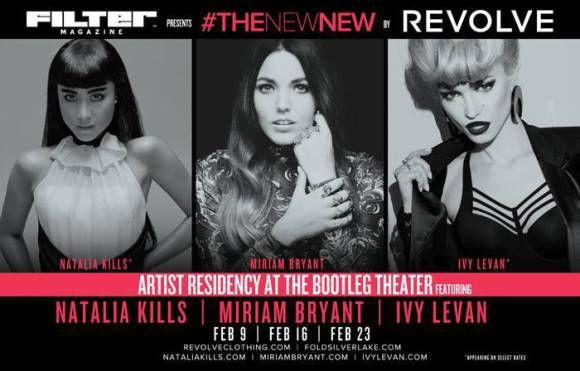 Natalia Kills, Miriam Bryant, and Ivy Levan's residency at the Bootleg Theater 2-14.
