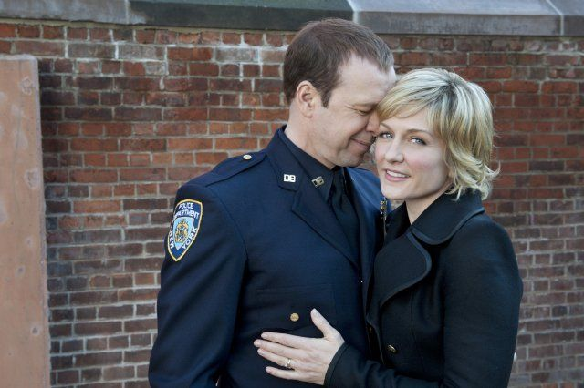Donny Wahlberg (Danny) on Blue Bloods with his wife in the show (Lynda)