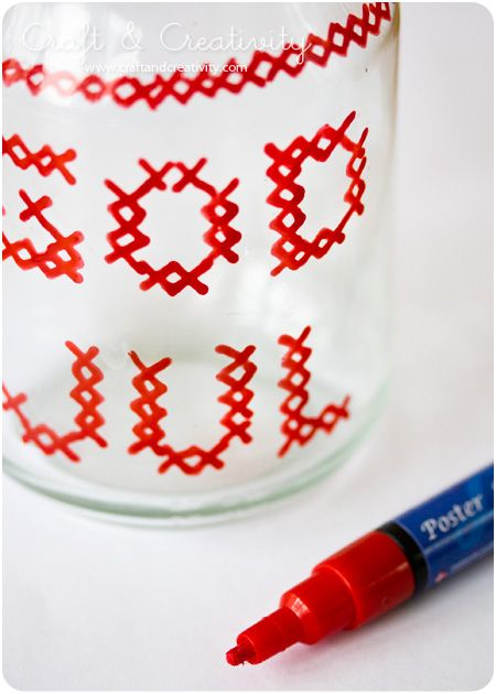 Lanternas de vidro de Natal - por Craft & Criatividade