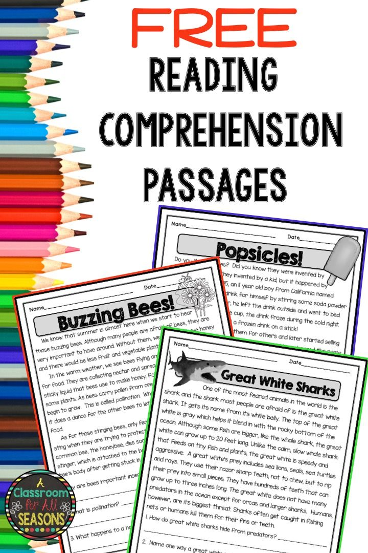 Free Reading Prehension Passages With Questions