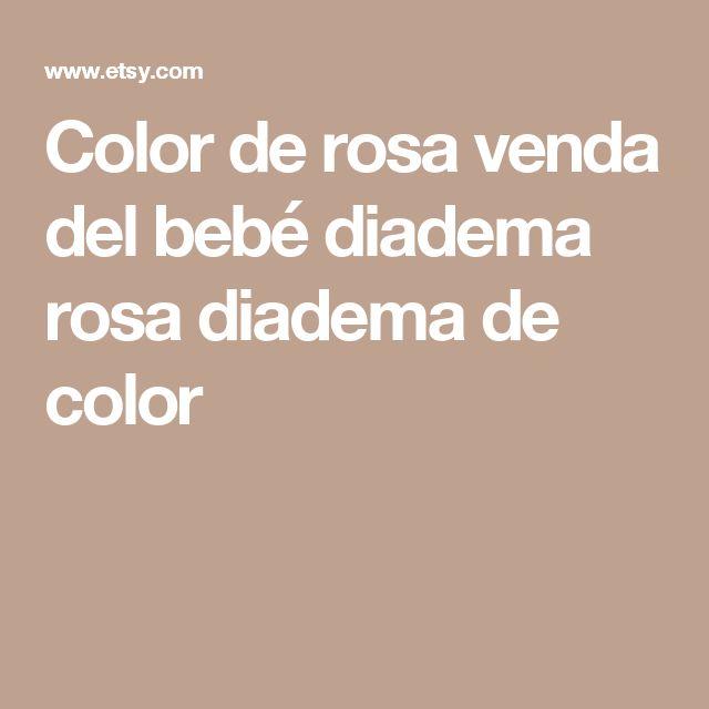 Color de rosa venda del bebé diadema rosa diadema de color