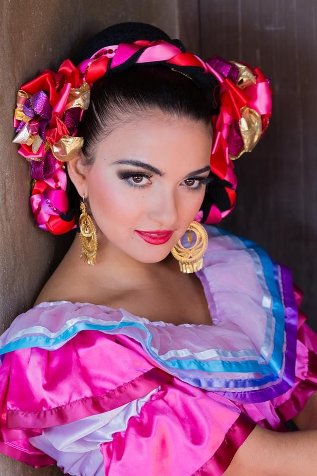 The People of Mexico: featured here is a lovely Jalisco (South West Mexican state) folkloric dancer.