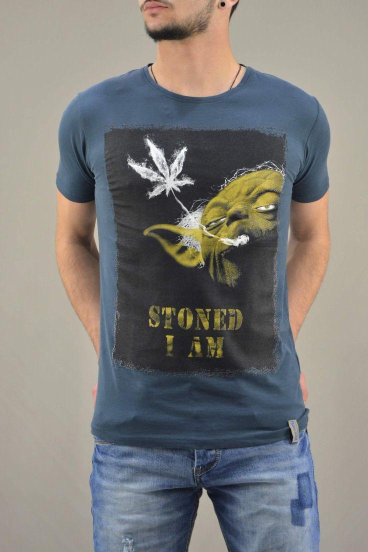 Ανδρικό t-shirt Star Wars Yoda Stoned | Άνδρας -