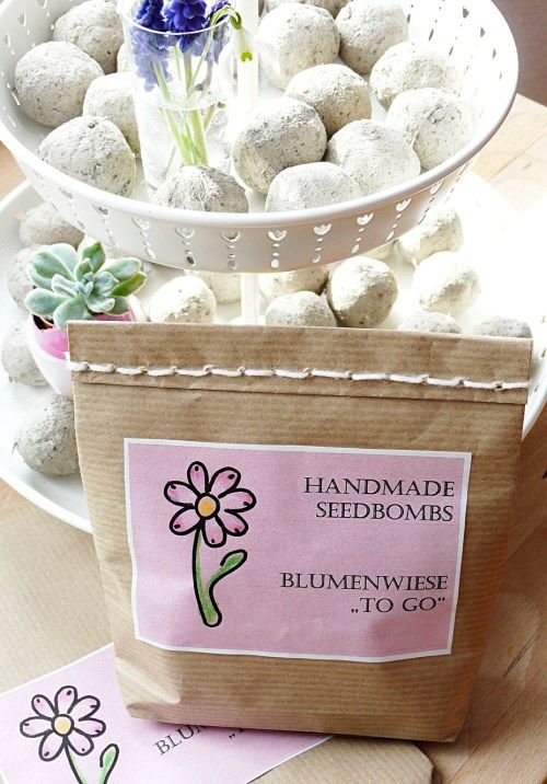 Eine hübsche Verpackung aus Packpapier ganz einfach selbst basteln - Tüte basteln - diy paper bag - seedbombs