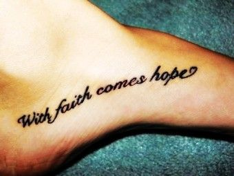 Small Black Foot Quote Tattoos for Girls - Inspirational Foot Quote Tattoos for Girls - LoveItSoMuch.com