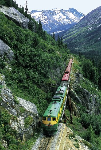 Take an unforgettable journey aboard the White Pass Scenic Railway in Skagway, #Alaska #cruise #RoyalCaribbean