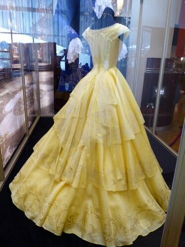 Details of Belle's ballgown from Disney's upcoming, live-action Beauty and the Beast