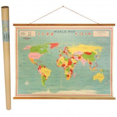 Vintage World Map Wall Chart  £24.95