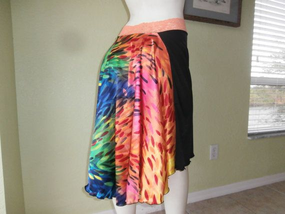 SATIN Tail Argentine Tango Skirt Size fits US 4 by COCOsDANCEWEAR