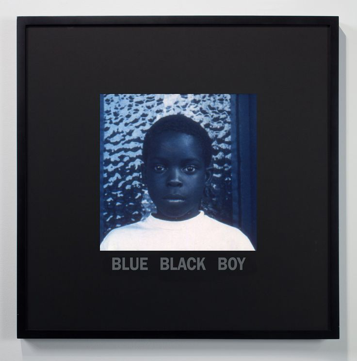 "In a new exhibition, Glenn Ligon explores the idea of ""blue black"" as it manifests not only in black identity but also in American culture."