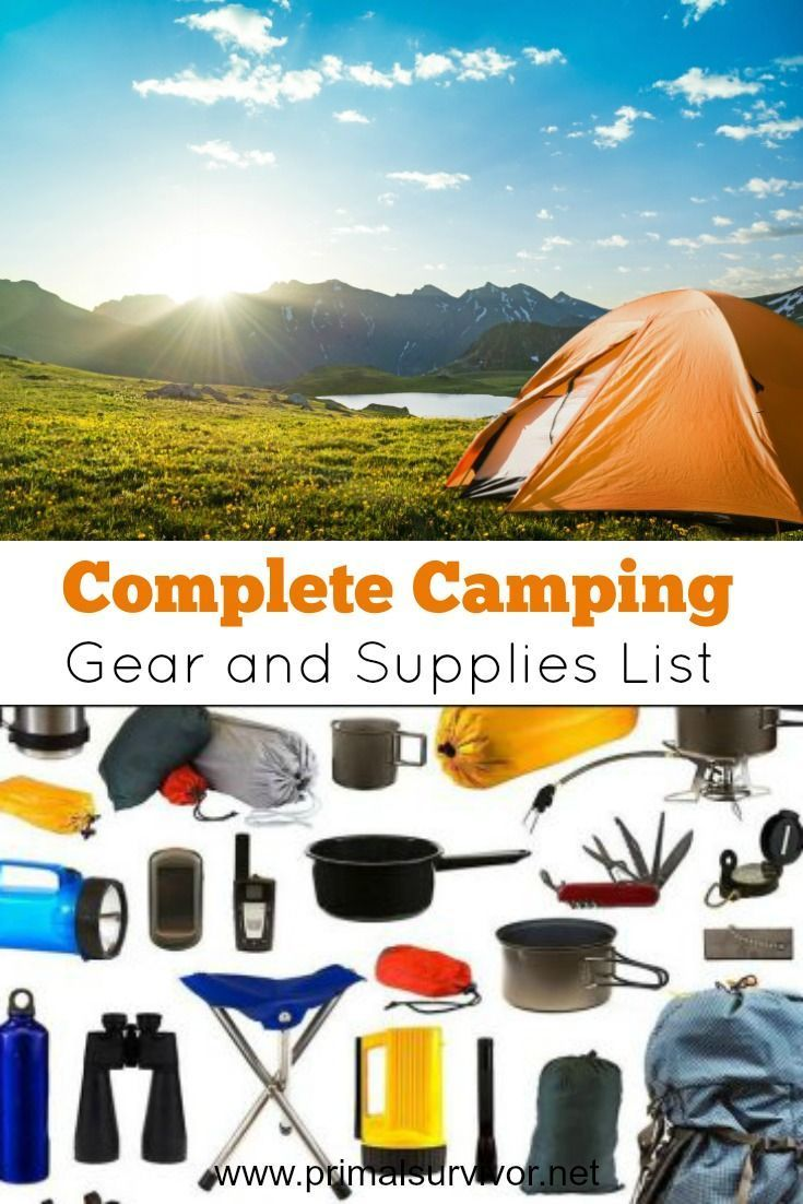 Complete Camping Gear and Supplies List. Ready to go camping for the very first time? It is important that you bring the right camping gear and supplies with you. Here is a checklist which covers all of the basics that you need to have a safe, fun, and comfortable camping trip.