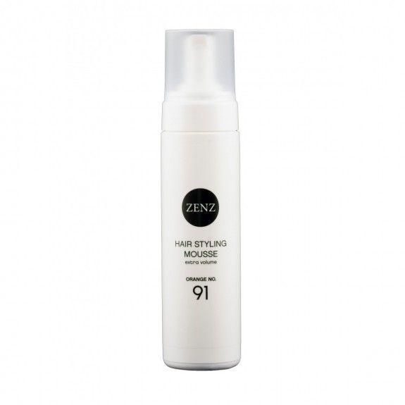 Zenz Hair Styling Mousse No. 91 - nærende hårmousse uden silikone. Giver en naturlig udssende. Med blødgørende ingredienser. Perfekt til krøllet hår.