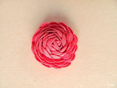 Tutorial: Flores con cinta Zig-Zag