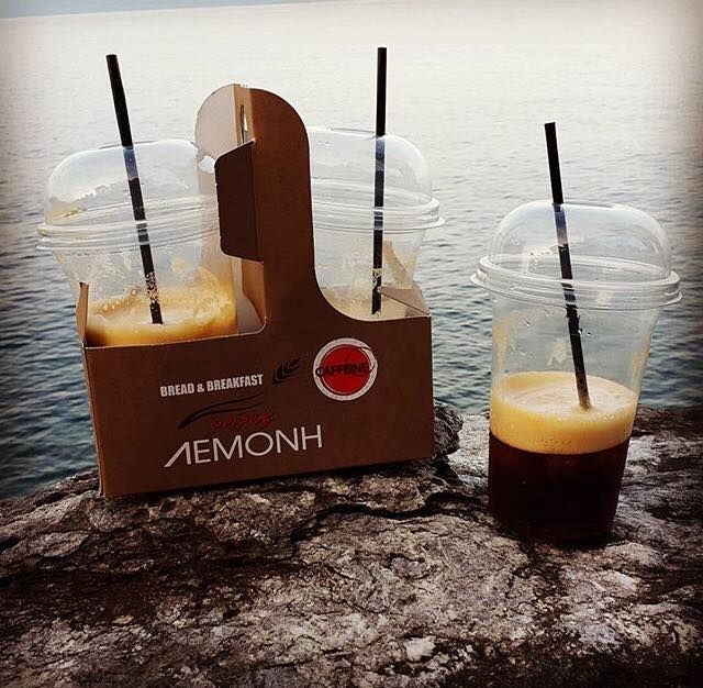 Start your day with Lemonis bakery coffee and the magical view of Chalkidiki's sea.