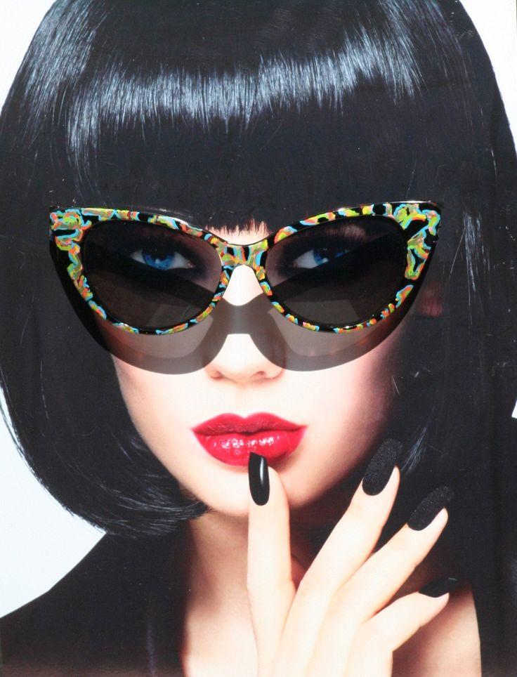 Handpainted Sunglasses, Cat Eye Sunglasses, Cat Style Sunglasses, Mandarin Fish Inspired, Womens Eyewear, Unique Sunglasses, One of a Kind by SunglassShenanigans on Etsy