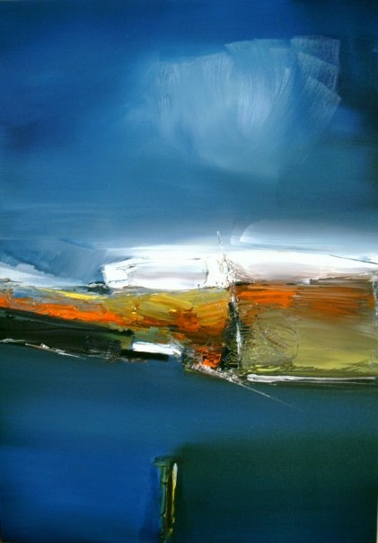 oil painting by Stefan Fiedorowitz, Land of 1000 Words