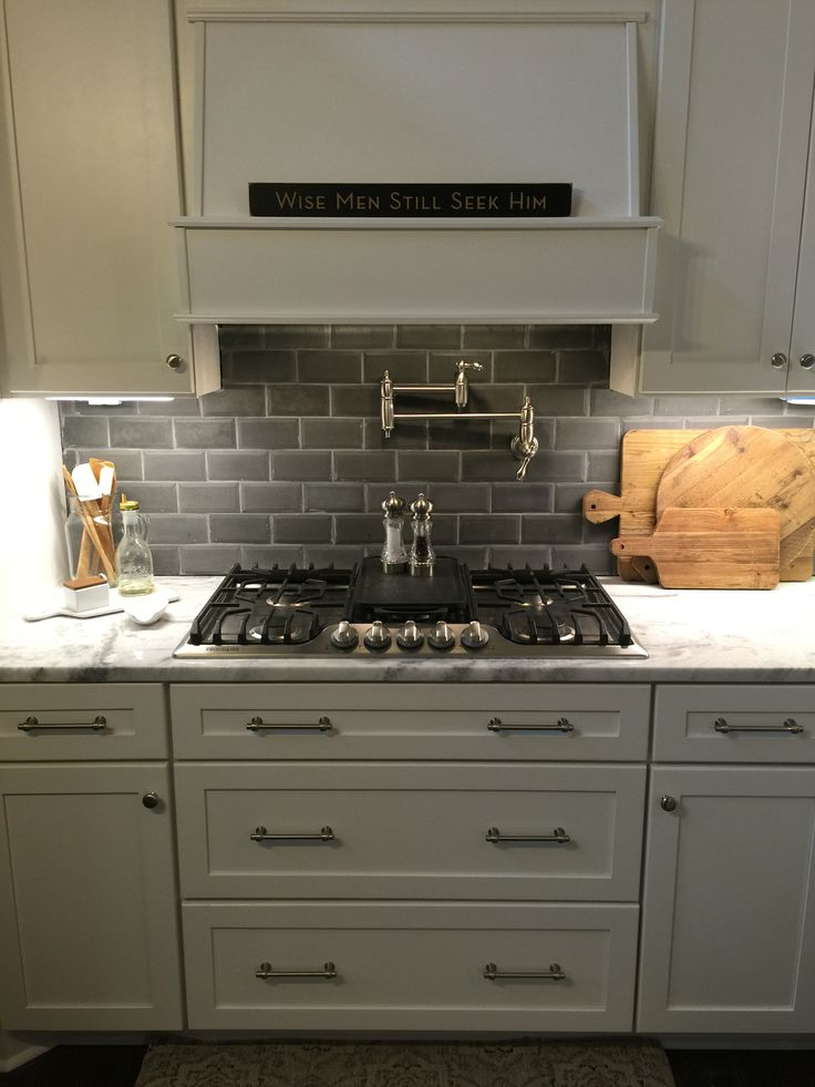 loving my concrete beveled edge subway tile backsplashepoch (purchased at lowes) | kitchen