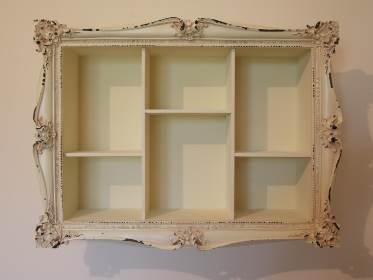 Cream Romantic Vintage Frame Style Wall Shelving Unit, £49.95