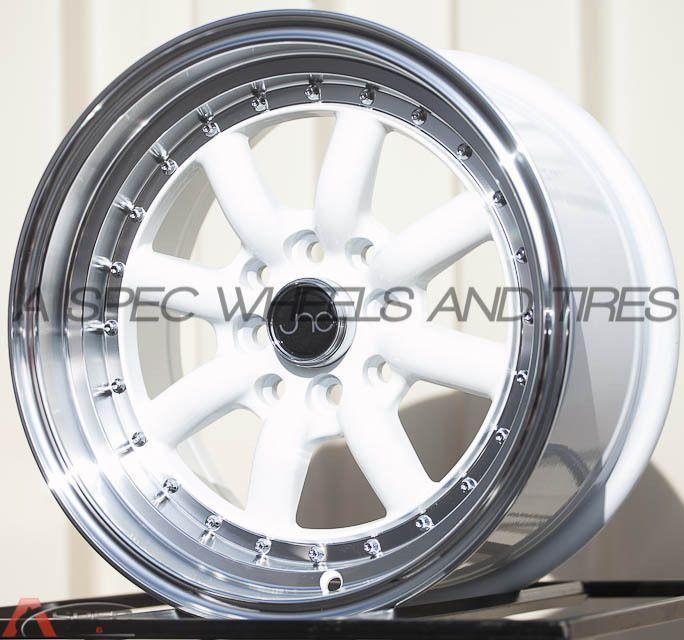 Toyota Corolla Tires >> 15X8 JNC 011 4X100 4X114.3 +25 WHITE RIM JDM AGGRESSIVE ...