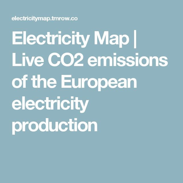 Electricity Map | Live CO2 emissions of the European electricity production