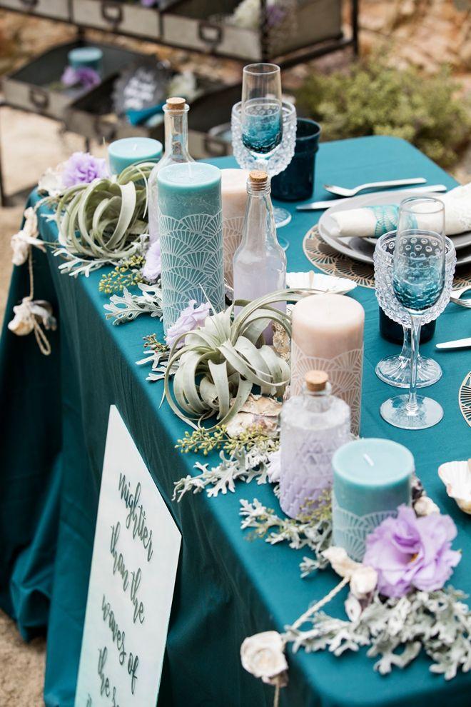 Romantic Mermaid Inspired, DIY Beach Wedding!