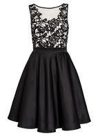 Womens *Quiz Satin Flower Short Dress- Black